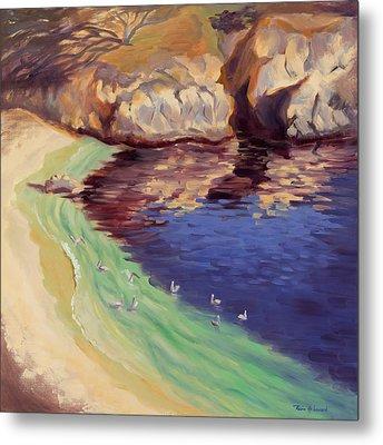 Soulful Sanctuary Point Lobos Metal Print by Karin  Leonard