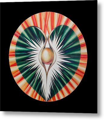 Sound Of The Heart Metal Print by Andrea Carroll