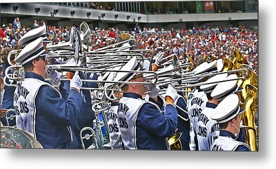 Sounds Of College Football Metal Print by Tom Gari Gallery-Three-Photography