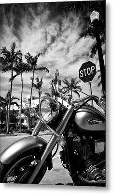 South Beach Cruiser Metal Print by Dave Bowman