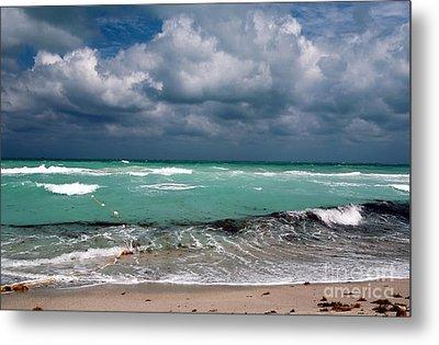 South Beach Storm Clouds Metal Print by John Rizzuto