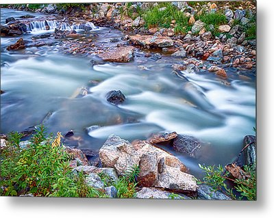 South Boulder Creek Little Waterfalls Rollinsville Metal Print by James BO  Insogna
