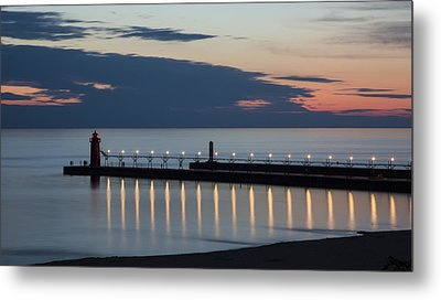 South Haven Michigan Lighthouse Metal Print by Adam Romanowicz
