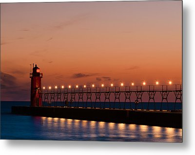 South Haven Reflection Metal Print by Sebastian Musial