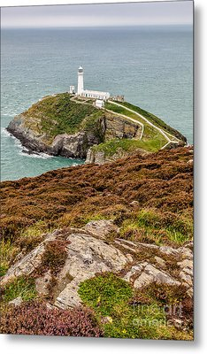South Stack Lighthouse Metal Print by Adrian Evans
