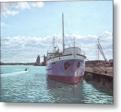 Southampton Docks Ss Shieldhall Ship Metal Print by Martin Davey