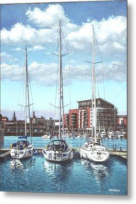 Southampton Ocean Village Marina Metal Print by Martin Davey