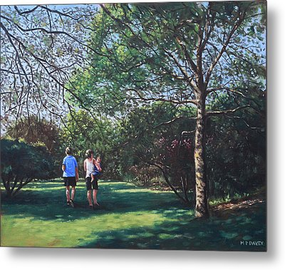 Southampton People In Park Metal Print by Martin Davey