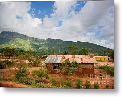 Southern Kenya Poverty Landscape Metal Print by Michal Bednarek