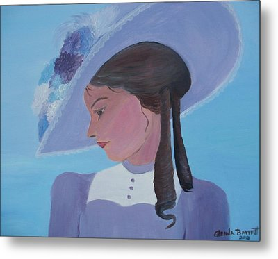 Southern Lady Metal Print by Glenda Barrett