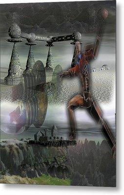 Space Ball Metal Print by Jon Thor  Gudmundsson