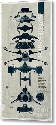 Space Ships Metal Print by Baltzgar