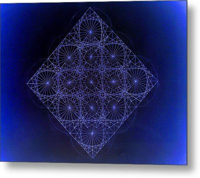 Space Time Sine Cosine And Tangent Waves Metal Print by Jason Padgett