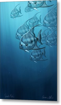 Spade Fish Metal Print by Aaron Blaise