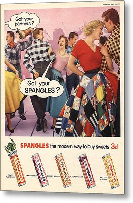 Spangles 1956 1950s Uk Sweets Party Metal Print by The Advertising Archives