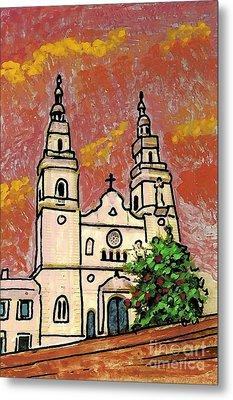 Spanish Church Metal Print by Sarah Loft