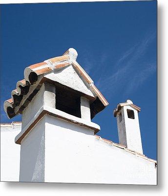 Spanish Rooftops Metal Print by Anne Gilbert