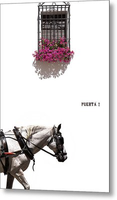 Spanish Scene Metal Print by Mal Bray
