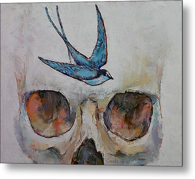Sparrow Metal Print by Michael Creese