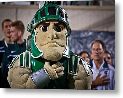 Sparty And Izzo National Anthem  Metal Print by John McGraw