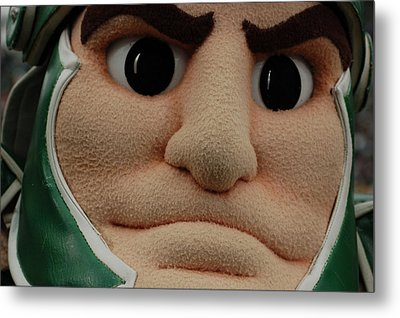 Sparty Face  Metal Print by John McGraw