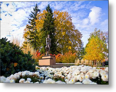 Sparty In Autumn  Metal Print by John McGraw