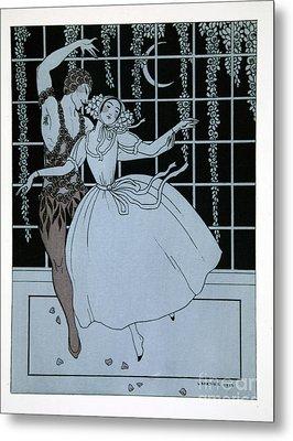 Spectre De La Rose Metal Print by Georges Barbier