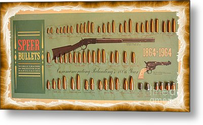 Speer Bullets Metal Print by Cheryl Young