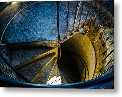 Spiral Into The Light Metal Print by Jeff Ortakales