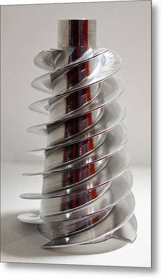 Spiral Screw Metal Print by Mark Williamson