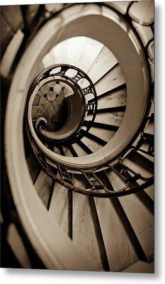 Spiral Staircase Metal Print by Sebastian Musial