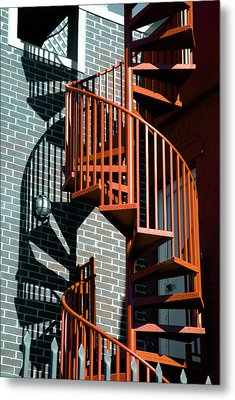 Spiral Stairs - Color Metal Print by Darryl Dalton