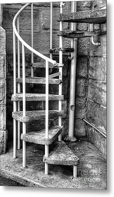 Spiral Steps - Old Sandstone Church Metal Print by Kaye Menner