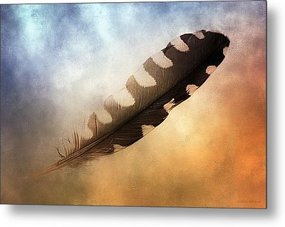 Spirit Feather Metal Print by Melissa Bittinger
