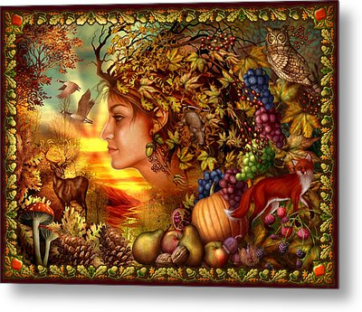 Spirit Of Autumn Metal Print by Ciro Marchetti