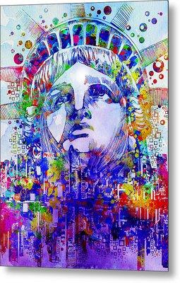 Spirit Of The City 2 Metal Print by Bekim Art