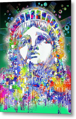 Spirit Of The City 4 Metal Print by Bekim Art