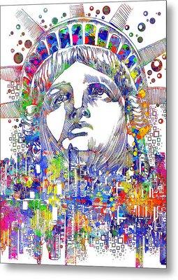 Spirit Of The City Metal Print by Bekim Art