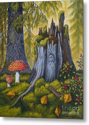 Spirit Of The Forest Metal Print by Veikko Suikkanen