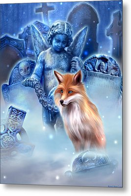 Spirit Of The Fox Metal Print by Kerri Ann Crau