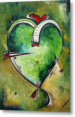 Spirit Of The Heart By Madart Metal Print by Megan Duncanson