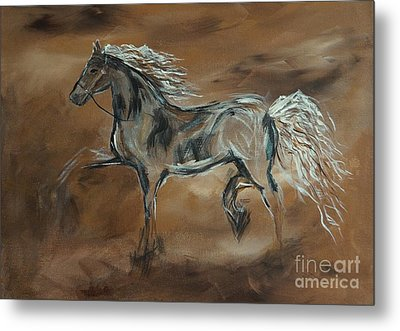 Spirited Metal Print by Leslie Allen