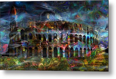 Spirits Of The Coliseum Metal Print by Jack Zulli