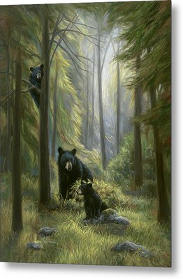 Spirits Of The Forest Metal Print by Lucie Bilodeau