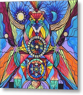 Spiritual Guide Metal Print by Teal Eye  Print Store