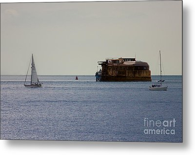 Spitbank Fort Martello Tower Metal Print by Terri Waters