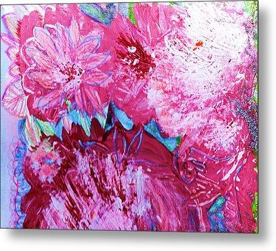Splishy Splashy Pink And Jazzy Metal Print by Anne-Elizabeth Whiteway