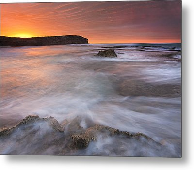 Splitting The Tides Metal Print by Mike  Dawson