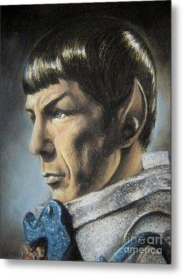 Spock - The Pain Of Loss Metal Print by Liz Molnar