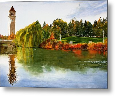 Spokane Clock Tower Metal Print by Jeannine Marx Fruci